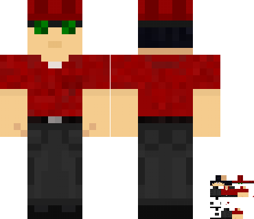 Vechs's covered Minecraft skin